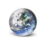 κόσμος yang yin απεικόνιση αποθεμάτων