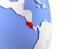 Κόστα Ρίκα στην κομψή σύγχρονη τρισδιάστατη σφαίρα Στοκ Φωτογραφία