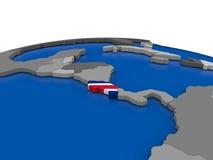 Κόστα Ρίκα στην τρισδιάστατη σφαίρα Στοκ Εικόνα