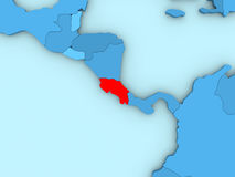 Κόστα Ρίκα στον τρισδιάστατο χάρτη Στοκ φωτογραφίες με δικαίωμα ελεύθερης χρήσης