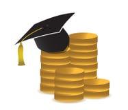 Κόστος της απεικόνισης έννοιας εκπαίδευσης Στοκ εικόνα με δικαίωμα ελεύθερης χρήσης