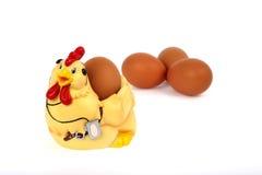 Κότα και αυγό Στοκ φωτογραφία με δικαίωμα ελεύθερης χρήσης