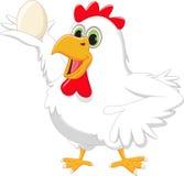 Κότα κινούμενων σχεδίων με το αυγό ελεύθερη απεικόνιση δικαιώματος