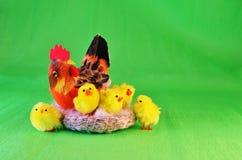 Κότα με έξι Στοκ Εικόνα