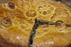 Κόψτε την πίτα Στοκ Εικόνες