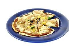 κόψτε τη μίνι πίτσα Στοκ φωτογραφία με δικαίωμα ελεύθερης χρήσης
