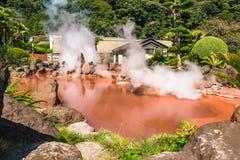 Κόλαση λιμνών αίματος Jigokuor Chinoike σε Beppu, Oita, Ιαπωνία στοκ φωτογραφίες