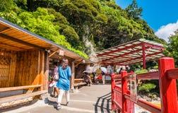Κόλαση δοχείων μαγειρέματος Jigokuor Kamado σε Beppu, Oita, Ιαπωνία Στοκ Εικόνα