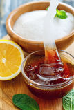 Κόλλα ζάχαρης για την αφαίρεση εγχώριας τρίχας Στοκ φωτογραφία με δικαίωμα ελεύθερης χρήσης