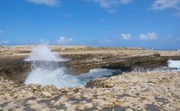 Κόλπος γεφυρών διαβόλων ` s - καραϊβική θάλασσα - Αντίγκουα και Μπαρμπούντα Στοκ εικόνες με δικαίωμα ελεύθερης χρήσης