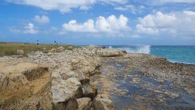 Κόλπος γεφυρών διαβόλων ` s - καραϊβική θάλασσα - Αντίγκουα και Μπαρμπούντα Στοκ Εικόνες