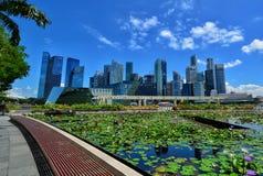 Κόλπος μαρινών στο χρόνο ημέρας, Σιγκαπούρη Στοκ Φωτογραφίες