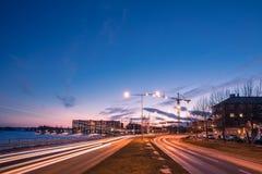 Κόλπος νότιων λιμανιών Lulea Στοκ εικόνες με δικαίωμα ελεύθερης χρήσης