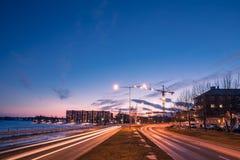 Κόλπος νότιων λιμανιών Lulea Στοκ εικόνα με δικαίωμα ελεύθερης χρήσης