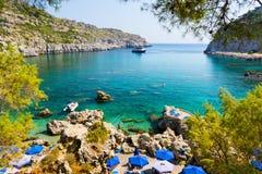 Κόλπος Ρόδος Ελλάδα του Anthony Quinn Στοκ εικόνες με δικαίωμα ελεύθερης χρήσης
