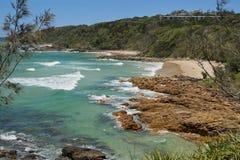 Κόλπος στην ακτή Αυστραλία ηλιοφάνειας Coolum Στοκ φωτογραφίες με δικαίωμα ελεύθερης χρήσης