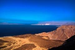 Κόλπος της λίμνης Τζιμπουτί Tadjoura και Ghoubet στοκ φωτογραφία με δικαίωμα ελεύθερης χρήσης