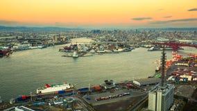 Κόλπος της Οζάκα, στις βιομηχανίες της Οζάκα Ιαπωνία Στοκ Εικόνες