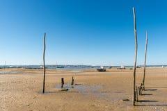Κόλπος του Αρκασόν, Γαλλία, άποψη πέρα από τον αμμόλοφο Pyla Στοκ φωτογραφία με δικαίωμα ελεύθερης χρήσης