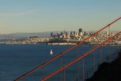 Κόλπος του Σαν Φρανσίσκο οριζόντων του Σαν Φρανσίσκο Στοκ Εικόνες