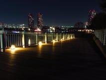 Κόλπος του Τόκιο τη νύχτα Στοκ Φωτογραφία