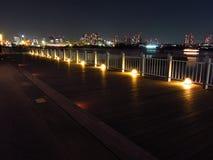 Κόλπος του Τόκιο τη νύχτα Στοκ εικόνα με δικαίωμα ελεύθερης χρήσης