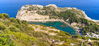 Κόλπος του Anthony Quinn στο νησί της Ρόδου, Ελλάδα Στοκ Εικόνα