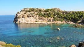 Κόλπος του Anthony Quinn στο νησί της Ρόδου στην Ελλάδα Στοκ φωτογραφία με δικαίωμα ελεύθερης χρήσης