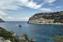 Κόλπος του Anthony Quinn στο νησί της Ρόδου Στοκ εικόνα με δικαίωμα ελεύθερης χρήσης