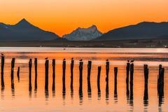 Κόλπος Almirante Montt, Puerto Natales, Χιλή στοκ εικόνα με δικαίωμα ελεύθερης χρήσης