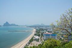 Κόλπος AO Manao, Prachuap Khiri Khan, Ταϊλάνδη Στοκ Εικόνες