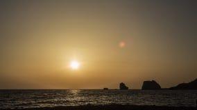 Κόλπος Aphrodite ηλιοβασιλέματος Στοκ Φωτογραφίες