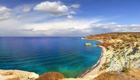 Κόλπος Aphrodite Πάφος, Κύπρος Στοκ Φωτογραφία