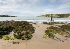 Κόλπος Cemaes σε Anglesey, βόρεια Ουαλία Στοκ φωτογραφία με δικαίωμα ελεύθερης χρήσης