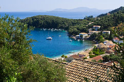 Κόλπος Kalami στο νησί της Κέρκυρας - Ελλάδα στοκ φωτογραφίες