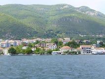 κόλπος Kotor, ακτή του Μαυροβουνίου Στοκ φωτογραφία με δικαίωμα ελεύθερης χρήσης