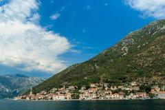Κόλπος Kotor, κοντά σε Kotor Μαυροβούνιο Στοκ φωτογραφία με δικαίωμα ελεύθερης χρήσης