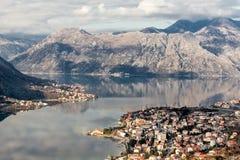 Κόλπος Kotor, Μαυροβούνιο. Kotorska Boka. Στοκ εικόνες με δικαίωμα ελεύθερης χρήσης
