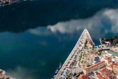 Κόλπος Kotor, Μαυροβούνιο. Kotorska Boka. Στοκ Φωτογραφίες