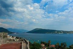 Κόλπος Kotor, Herceg Novi Μαυροβούνιο Στοκ εικόνα με δικαίωμα ελεύθερης χρήσης