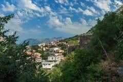 Κόλπος Kotor, Kotor Μαυροβούνιο Στοκ Φωτογραφίες