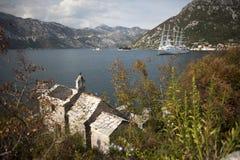 Κόλπος Kotorska Boka στο Μαυροβούνιο, Ευρώπη Στοκ Εικόνες