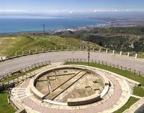 Κόλπος Manfredonia που αντιμετωπίζεται από Monte Sant'Angelo Στοκ Εικόνα