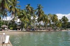Κόλπος Marigot - τροπικό νησί Αγιών Λουκία Στοκ Εικόνα