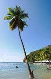 Κόλπος Marigot - τροπικό νησί Αγιών Λουκία Στοκ εικόνα με δικαίωμα ελεύθερης χρήσης