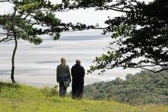 Κόλπος Morecambe άποψης από Arnside Knott, Cumbria Στοκ Φωτογραφίες