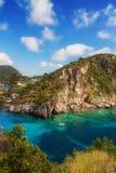 Κόλπος Paleokastritsa, Κέρκυρα, Ελλάδα Στοκ εικόνες με δικαίωμα ελεύθερης χρήσης
