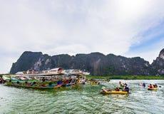 Κόλπος Phang Nga σπηλιών Lod Tham Στοκ Φωτογραφίες