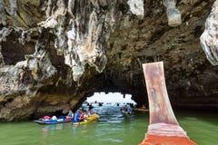 Κόλπος Phang Nga σπηλιών Lod Tham Στοκ φωτογραφίες με δικαίωμα ελεύθερης χρήσης