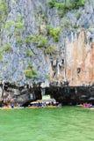 Κόλπος Phang Nga σπηλιών Lod Tham Στοκ φωτογραφία με δικαίωμα ελεύθερης χρήσης
